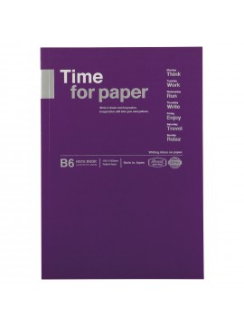 Notebook Flexible B6 Purple - Time for paper