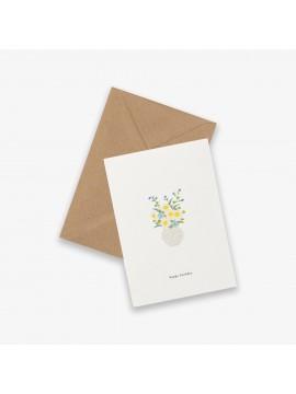 Greeting Card Birthday flowers - Kartotek Copenhagen