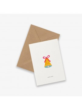 Greeting Card Christmas bell - Kartotek Copenhagen