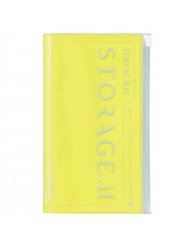 Travel Wallet Neon Yellow - STORAGE.IT