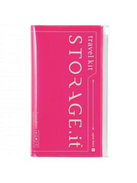 Travel Wallet Neon Pink - STORAGE.IT
