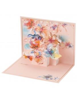 Message card Pastel Aquarelle Violet - PAUL & JOE