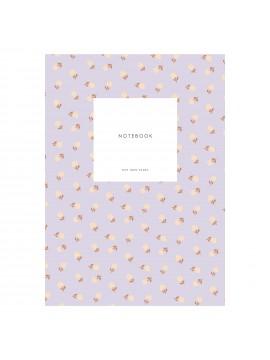 Small Notebook Dot Grid Small flower lavender - KARTOTEK