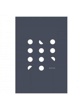 Pocket Notebook A6 Dot Lines Navy - KARTOTEK