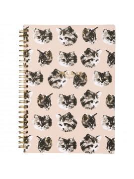 Spiral notebook A5 Cat Cat Cat - PAUL & JOE
