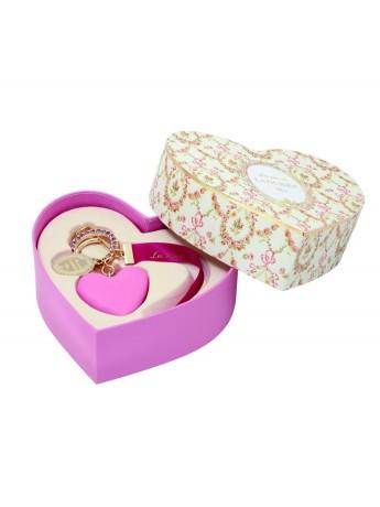 Bag Charm Macaron Coeur Framboise - LADURÉE