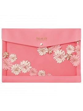 Stationery case A4 Chrysanthemum Blossom Pink - PAUL & JOE