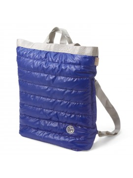 Convertible Backpack  / Tote Bag Quilted Blue Ceoroo Tall - ROOTOTE