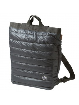 Convertible Backpack  / Tote Bag Quilted Charcoal Ceoroo Tall - ROOTOTE