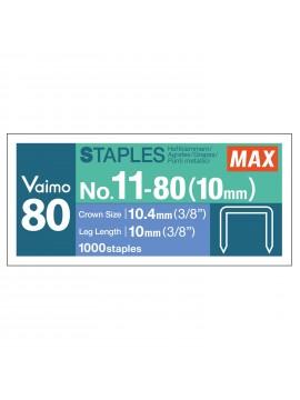 High performance refill staples N-11 10 mm - 1000 pcs - MAX