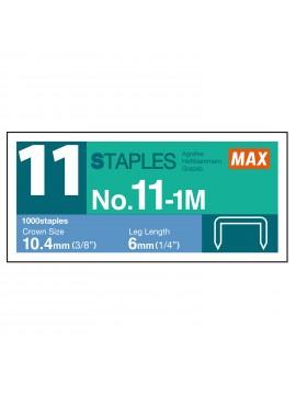 High performance refill staples N-11 6mm - 1000 pcs - MAX