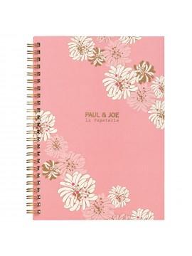 Carnet de notes à Spirale A5 Chrysanthemum Blossom Pink - PAUL & JOE