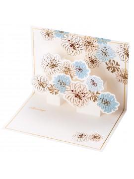 Message Card Chrysanthemum White - PAUL & JOE