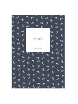 Small Notebook Small flowers navy - Kartotek Copenhagen