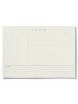 Notepad Monthly planner Green - Kartotek Copenhagen
