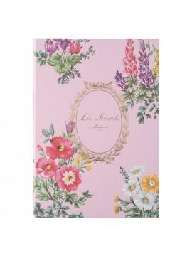 Notebook B6 Bouquet de Fleurs Rose - Les Secrets by Ladurée