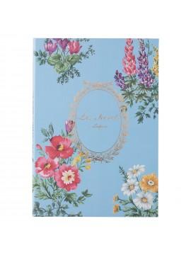 Notebook B6 Bouquet de Fleurs Bleu - Les Secrets by Ladurée